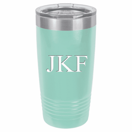 20 Ounce Teal Polar Camel Travel Mug with Personalized Initials