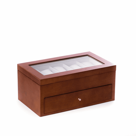 20 Watch Cherry Wood Box with Viewing Window