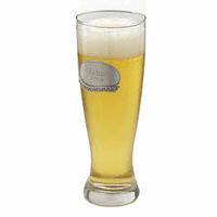 22 Ounce Pilsner Glass with Personalized Pewter Medallion