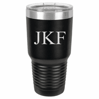 30 Ounce Black Polar Camel Ringneck Tumbler with Personalized Initials