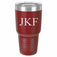 30 Ounce Maroon Polar Camel Ringneck Tumbler with Personalized Initials