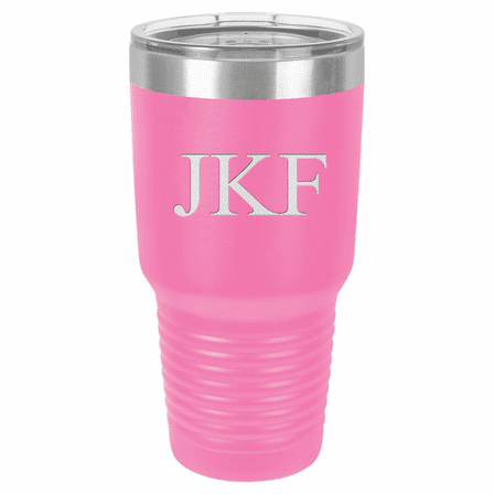 30 Ounce Pink Polar Camel Ringneck Tumbler with Personalized Initials