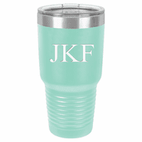 30 Ounce Teal Polar Camel Ringneck Tumbler with Personalized Initials