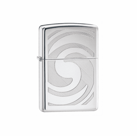 3D Abstract High Polish Chrome Zippo Lighter - ID# 28286 - Discontinued