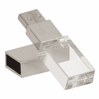8GB Personalized Crystal USB Flash Drive With White LED Light