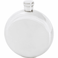 5 Ounce Engraved Round Flask