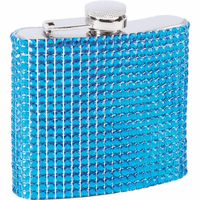 6 Ounce Blue Bling Flask - Discontinued