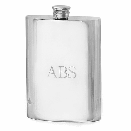 6 Ounce Classic Pewter Flask - Discontinued