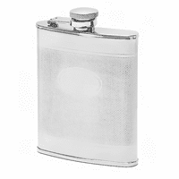 6 Ounce Knit Pattern Engravable Flask