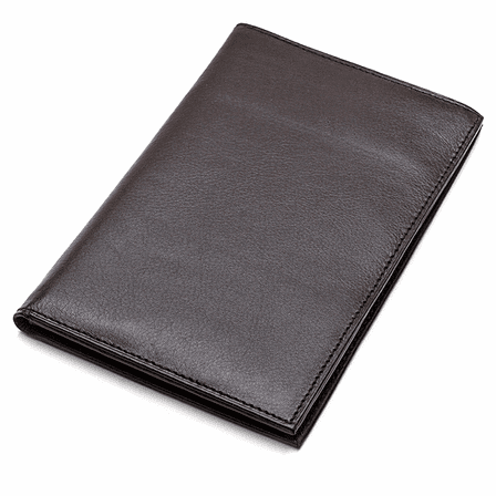 60 Card Leather Business Card File