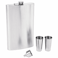 64 Ounce Personalized Flask Gift Set