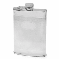 8 Ounce Knit Design Engraved Flask