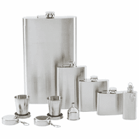 8 Piece Personalized Flask Gift Set - Discontinued