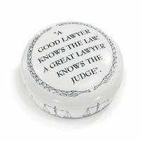 A Good Lawyer Knows The Law Desktop Paperweight