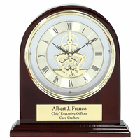 Admiral Piano Finish Personalized Arch Desk Clock