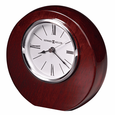 Adonis Polished Rosewood Round Table Clock by Howard Miller