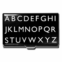 """Alphabet"" Business Card Case"