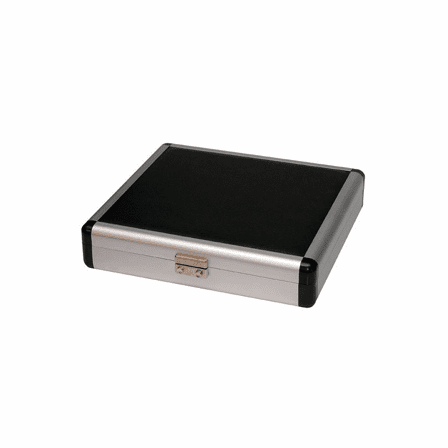 Aluminum & Leather Cigar Travel Humidor