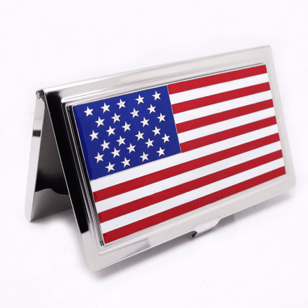 American Flag Business Card Case