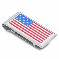 American Flag Spring Loaded Money Clip