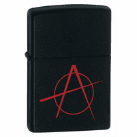Anarchy Black Matte Zippo Lighter - ID# 20842