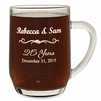 Anniversary Gift  20 Ounce Barrel Mug with Handle