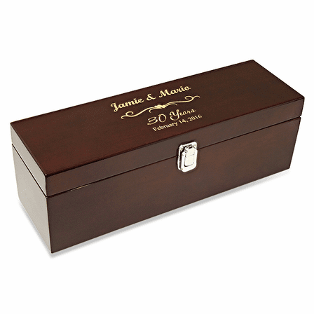 Anniversary Gift Single Bottle Wine Presentation Box with Tools