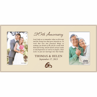 Anniversary Personalized Dual Picture Frame