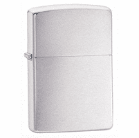 Armor Brushed Chrome Zippo Lighter - ID# 162