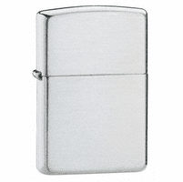 Armor Brushed Sterling Silver Zippo Lighter - ID# 27