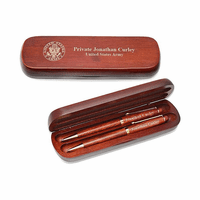Army Cherrywood Double Pen and Box Set