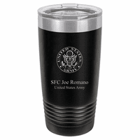 Army Emblem 20 Ounce Black Polar Camel Travel Mug