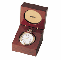 Ashton Table Top Clock and Pocket Watch by Bulova