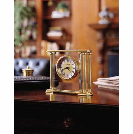 Athens Solid Brass Table Clock by Howard Miller