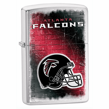 Atlanta Falcons NFL Brushed Chrome Zippo Lighter - ID# 28209