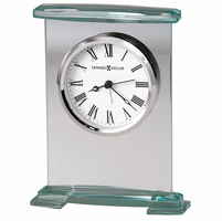 Augustine Bracket Style Glass Alarm Clock by Howard Miller