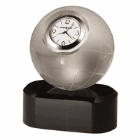 Axis World Globe Desk Clock by Howard Miller - Discontinued