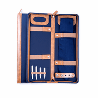 Ballistic Blue Nylon Travel Tie Case