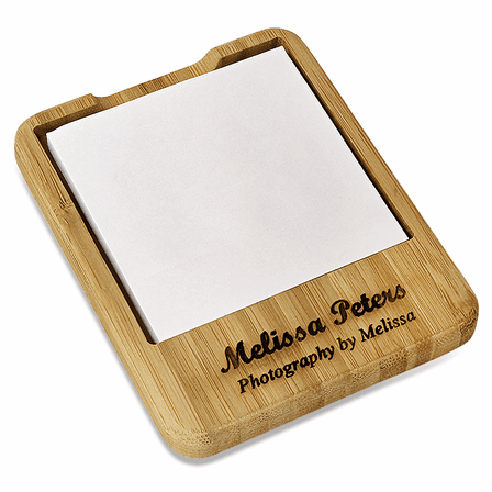 Bamboo Desktop Notepad Holder