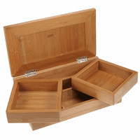 Bamboo Desktop Stationery & Organizer Box