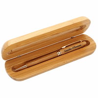 Bamboo Engraved Wood Pen and Box