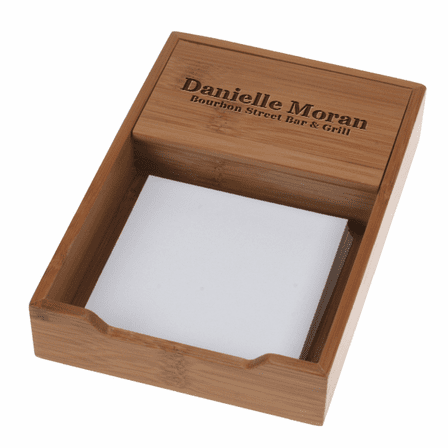 Bamboo Note Pad Holder