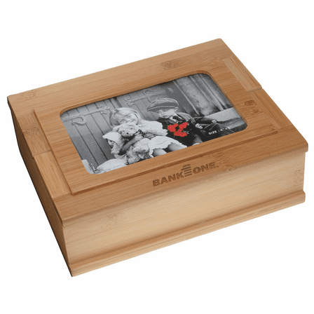 Bamboo Treasure Box with Photo Frame Lid