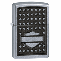 Bar & Shield Studded Street Chrome Zippo Lighter - ID# 28482