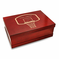 Basketball Coach's Personalized Cherry Finish Keepsake Box