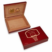 Basketball Coach's Personalized Cherry Finished Humidor