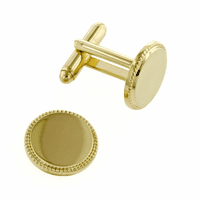 Beaded Edge Cufflinks - Discontinued