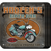 Biker Bar Coaster Set - Free Personalization