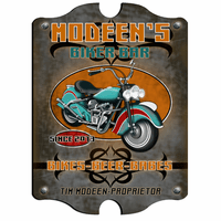 Biker Bar Vintage Pub Sign - Free Personalization
