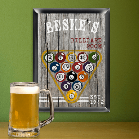 Billiards  Man Cave Sign - Free Personalization